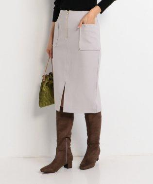 フロントファスナーポケットタイトスカート