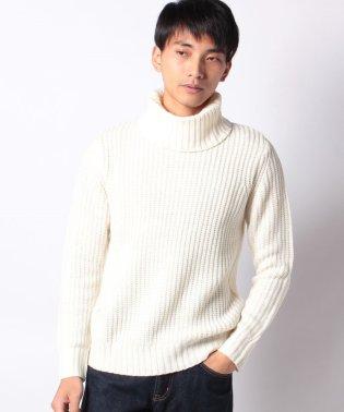 畦編み ニット セーター タートルネック