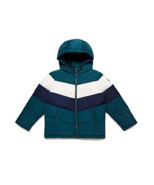 アームロゴ中綿フードジャケット