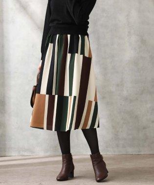 1_ジオメSTPギャザースカート