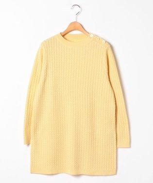 【大きいサイズ】NADIA ケーブル編みチュニックプルオーバー