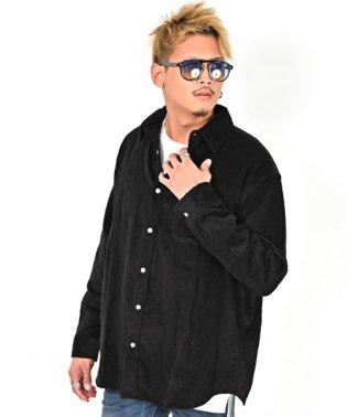 コーデュロイビッグシャツ/ウエスタン シャツ コーデュロイ メンズ ビッグシルエット 長袖 無地 BITTER ビター系