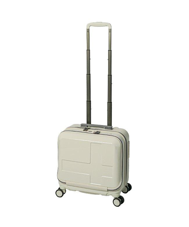 (innovator/イノベーター)イノベーター スーツケース ビジネスキャリーバッグ 機内持ち込み 33L Sサイズ フロントオープン ストッパー innovator INV36/メンズ アイボリー