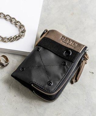 DEVICE ミリタリー ダブルジップ 二つ折り財布