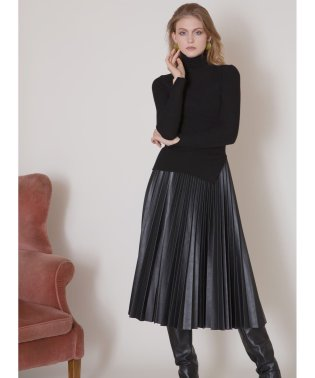 Eco Leather Pleat Skirt