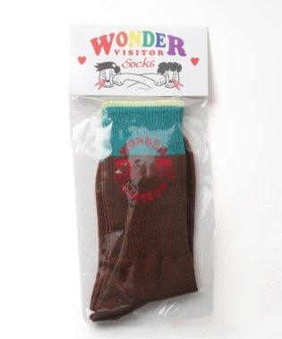 【WONDER VISITOR/ワンダービジター】 happy cross socks