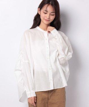 【mizuiro ind】back gatherd wide shirt