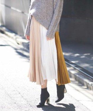 【洗える】ヴィンテージサテンプリーツスカート