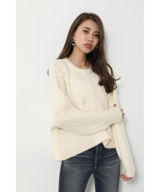 mix cable Knit TOP