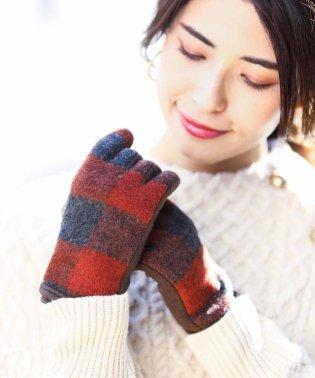 【タッチパネル対応】チェック手袋