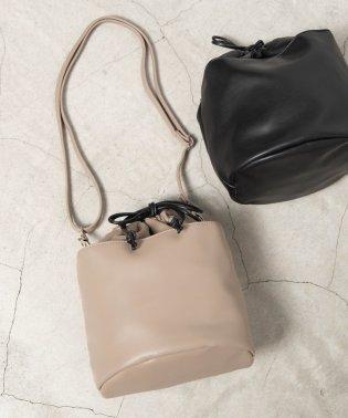 WEGO/シンセティックレザー2WAY巾着バッグ