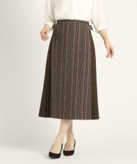 リファインヘリンボーン/ストライプ スカート
