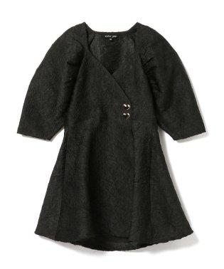 sister jane / Midnight Jacquard Mini Wrap Dress