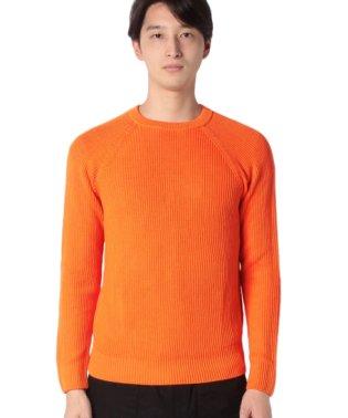 ミドルゲージリブ編みニット・セーター