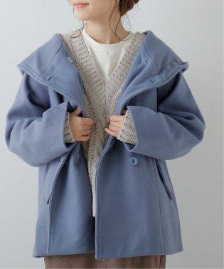 フェイクウールフードミドル丈コート