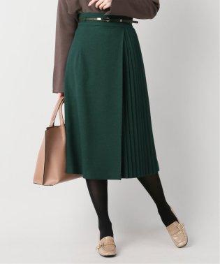 ウールライクジョーゼットラップ風スカート
