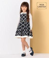 【WEB・一部店舗限定カラー有/110-140cm】ダイヤフラワー刺繍 ワンピー
