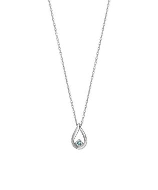 K10ダイヤモンド デューネックレス(WG)
