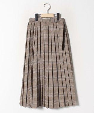 チェック柄プリーツロングスカート