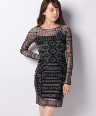WOMAN KNIT DRESS LONG SLEEVE