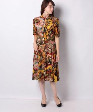 WOMAN KNIT DRESS 3/4 SLEEVE