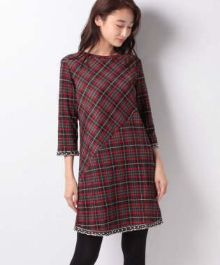 WOMAN KNIT DRESS 3/4 SLEEVE