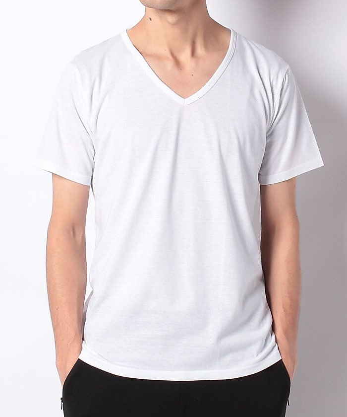 (SPORTS AUTHORITY/スポーツオーソリティ)スポーツオーソリティ/メンズ/VネックTシャツ/メンズ ホワイト