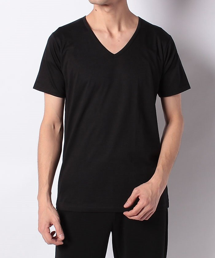 (SPORTS AUTHORITY/スポーツオーソリティ)スポーツオーソリティ/メンズ/VネックTシャツ/メンズ ブラック