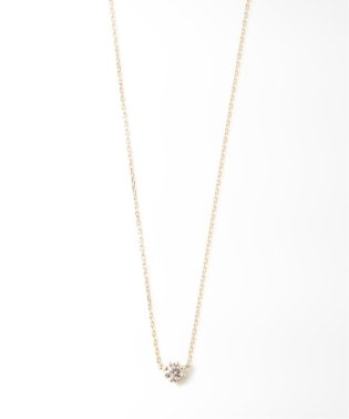 18KYG 0.1ct ダイヤモンド ネックレス H&C