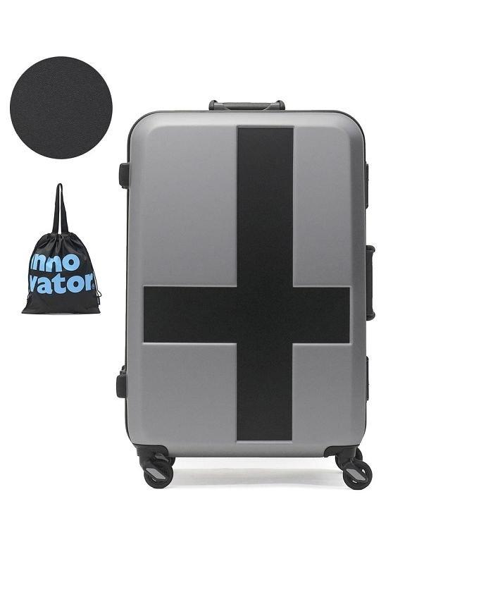 (innovator/イノベーター)イノベーター スーツケース innovator キャリーケース フレーム 軽量 旅行 INV58T(60L 3〜5日 Mサイズ)/ユニセックス グレー