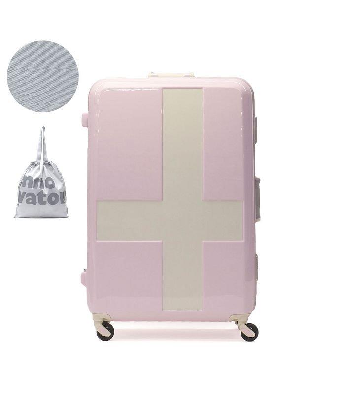 (innovator/イノベーター)イノベーター スーツケース innovator キャリーケース フレーム 軽量 旅行 INV68T(90L 7〜10日 Lサイズ)/ユニセックス ライトピンク