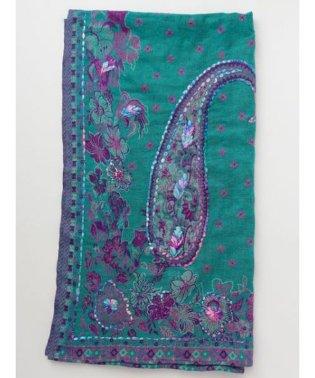 【チャイハネ】刺繍入りジャガード織りマルチカバー/ブランケット ISAP93A3