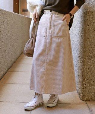 コーデュロイベイカーロングスカート
