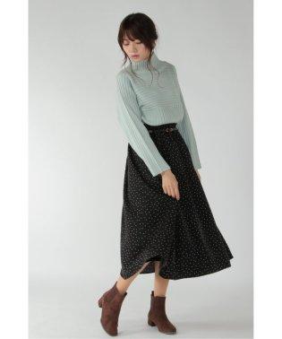 ベルト付き起毛ギャザースカート