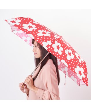 estaa 折りたたみ傘 【花柄スタンプ】
