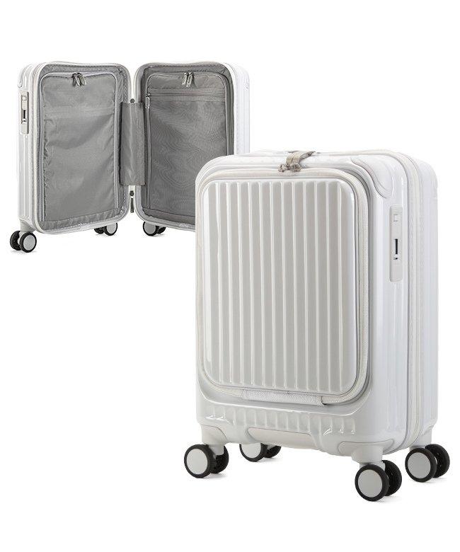(KABANNOSELECTION/カバンノセレクション)カーゴ エアレイヤー スーツケース 機内持ち込み フロントオープン SSサイズ/22L ストッパー機能 CARGO AiR LAYER cat235ly/ユニセックス ホワイト