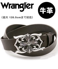【WRANGLER】【国産】【本革】【長尺】ラングラー 大きいサイズ クロスバックル レザー ロングベルト