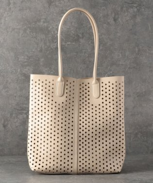 【CACHELLIE】ECO LEATHER PUNCHING LONG TOTE