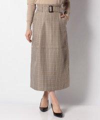 オリジナルチェックベルトスカート
