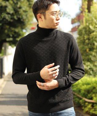 【俳優 大谷亮平さん着用】12Gへリンボーンタートルネックセーター