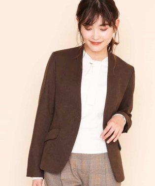 【セットアップアイテム】ブラウン Vネックジャケット