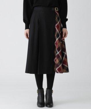 クレストブリッジチェックウールビエラコンビスカート