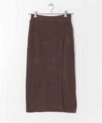 ラップIラインニットスカート