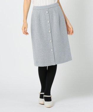 ツイード装飾タイトスカート