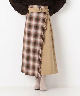 巻きストール風スカート