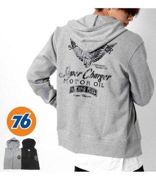 【76Lubricants】セブンティーシックス タイヤ ウイング 裏起毛 フルジップパーカー