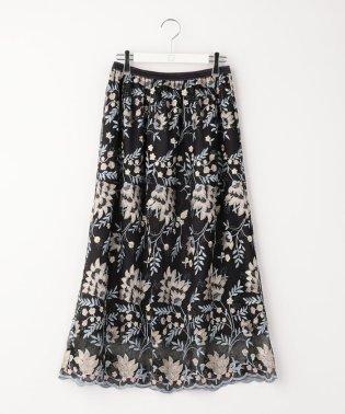 フラワー刺繍レーススカート