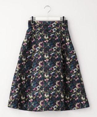 フラワージャガードタックギャザースカート
