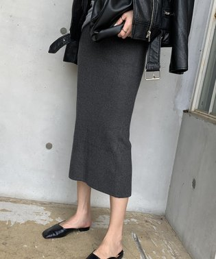 NANING9(ナンニング)ミモレ丈ニットスカート
