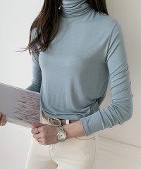 NANING9(ナンニング)タートルネック長袖Tシャツ
